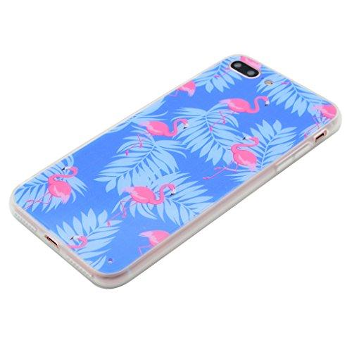 """Coque Cover iPhone 7, IJIA Ultra-mince Violet Rose Grue PC Dur et Les TPU Doux (2 en 1) Plastique Silicone Hard Bumper Case Cover Shell Coque Housse Etui pour Apple iPhone 7 (4.7"""") + 24K Or Autocollan"""
