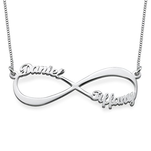 Couples Infinity Pendant Necklace Sterling product image