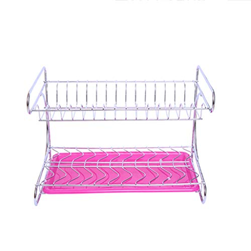 ZUOANCHEN Dish Drying Rack,Kitchen Stainless Steel 2-Tier Di