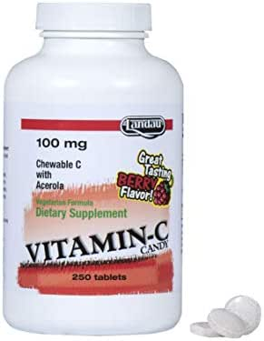 Landau Vitamin C Candy 100 Mg Chewable Berry Flavor - 250 Tablets