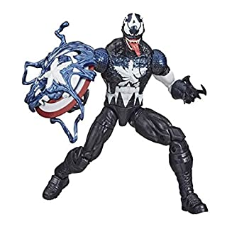 Hasbro Marvel Legends Series 15-cm Collectible Venomised Captain America Action Figure Toy, Premium Design and 2 Accessories