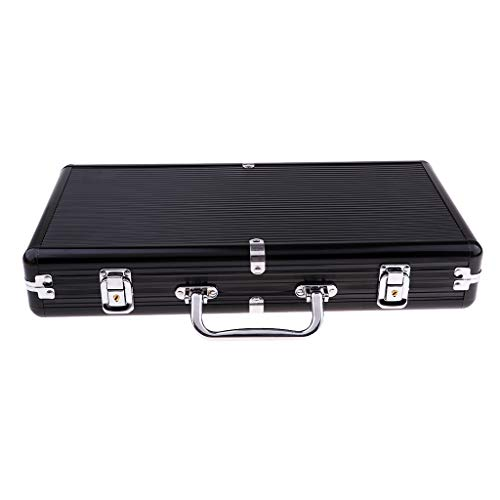 Chip Case 300 Capacity - Prettyia 300 Capacity Chips Suitcase Container Chips Case Poker Accessories 38.8x20.5x7cm