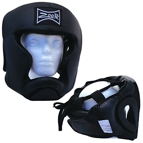 Boxing Headgear, Synthetic Leather MMA UFC Fighting Head Guard Sparring Helmet by Zeepk, X-Large