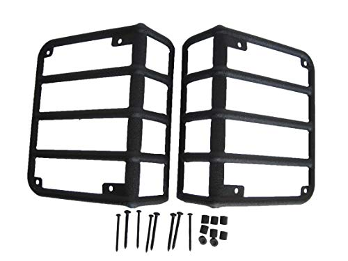 Black Stainless Steel Tail Light Guards for 07-17 Jeep Wrangler JK