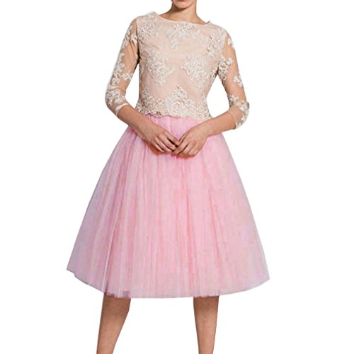 (Wedding Planning Women's A Line Short Knee Length Tutu Tulle Prom Party Skirt Large Pink)