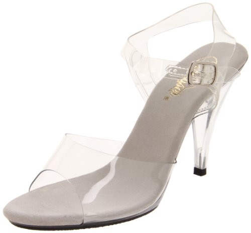 Pleaser Women's Caress 408 Sandal,Clear/Clear,9 M US]()