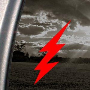 Lightning Bolt Red Decal 4x4 Racing Truck Window Red Sticker