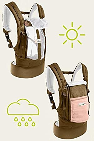 15f0256bc2b9 Physiocarrier Coton Safari poche Rose de JPMBB  Amazon.fr  Bébés ...