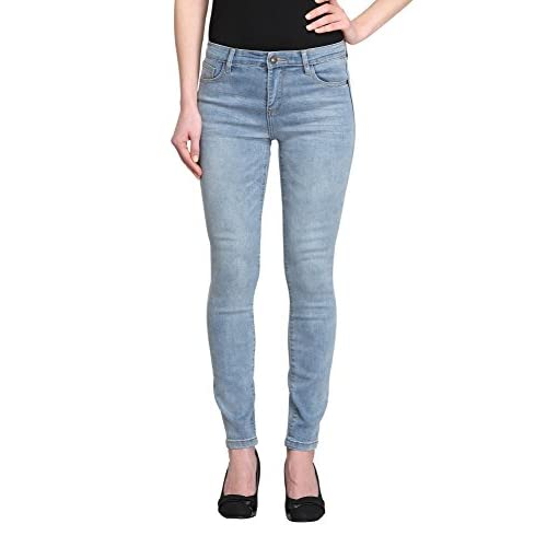 Allee Jeans Women's Light Blue Mid-Rise Skinny Ankle Jeans (Camellia-AK) supplier