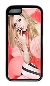 Customizablestyle Famous Singer Avril Lavigne iPhone 5C TPU Black Rubber Shell Case