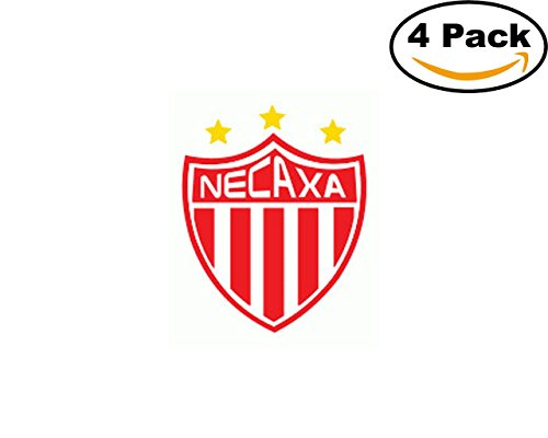 fan products of Soccer Necaxa Logo 4 Stickers 4X4 Inches Car Bumper Window Sticker Decal