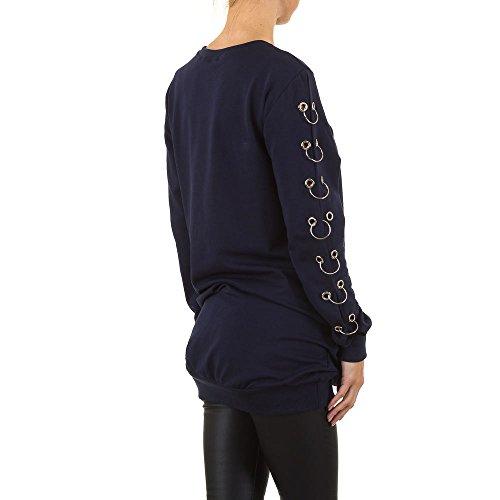 Oversize Long Sweatshirt Für Damen , Blau In Gr. S bei Ital-Design