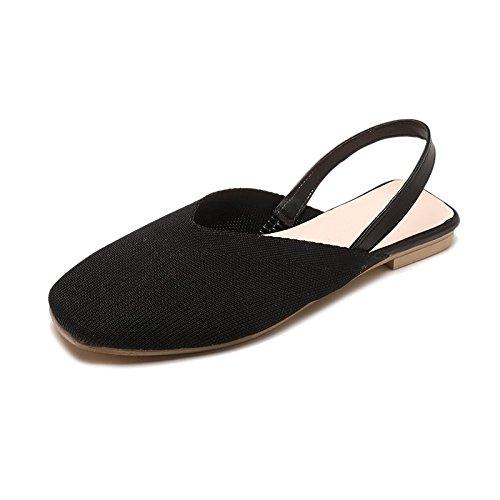 negro Mujer Sandalias para Verano de LYSLOLI R6XBqIx