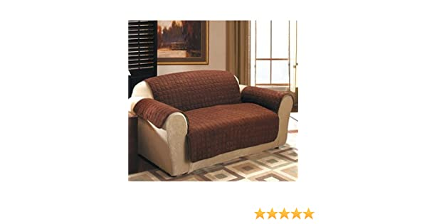 Prime Quilted Sueded Furniture Covers Chocolate Sofa Cover Ncnpc Chair Design For Home Ncnpcorg