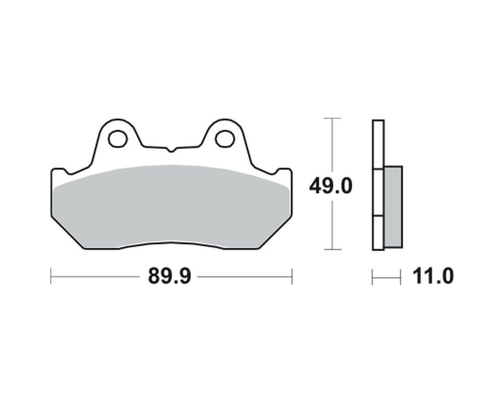 vorne 90/ Lucas Bremsbel/äge TRW MCB512SV f/ür HONDA XL 600/V Transalp PD06/87