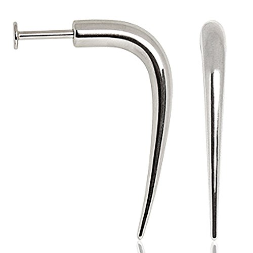 316L Surgical Steel Labret with Claw - 14GA L:3/8