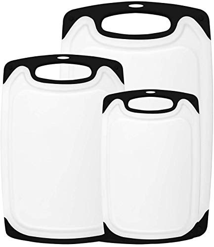 HOMWE-Kitchen-Cutting-Board-3-Piece-Set-Juice-Grooves-with-Easy-Grip-Handles-BPA-Free-Non-Porous-Dishwasher-Safe-Multiple-Sizes-Black