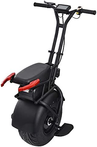 GJZhuan 18 Pouces Électrique Monocycle Big Simple Roue Scooter Auto-équilibrage Une Roue Adulte Scooter Électrique avec Poignée 1000W Puissant 60V Batterie Au Lithium