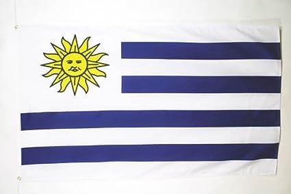 AZ FLAG Bandera de Uruguay 150x90cm - Bandera URUGUAYA 90 x 150 cm