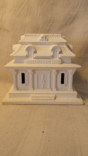 Creative kreations ceramics bank village house ready to for Ceramic house paint
