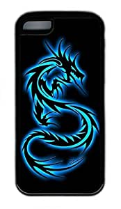 Generic Personalized Custom Blue Dragon Design Case for Iphone 5c - Black