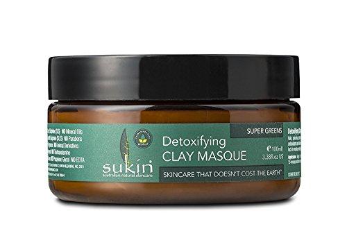 Sukin Detoxifyng Clay Masque Super Greens 3.38 Fl. Oz. (6 Pack)