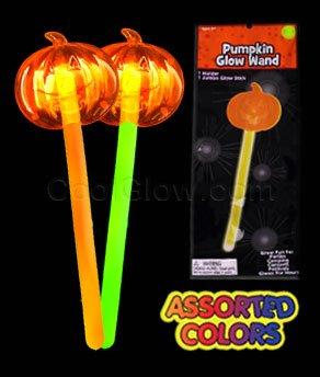 Fun Central X551 Glow in the Dark Pumpkin Wand - Assorted - 4pcs