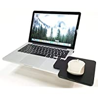 Creator's Mouse Ledge -Black- 100% MADE IN USA - Platform Laptop Chromebook Computer Extension - Slick Surface W/Edge…