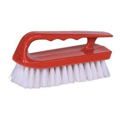 Hand Scrub Brushes - 6'' Scrub Brush Finger Grip Handle White [Set of 12]