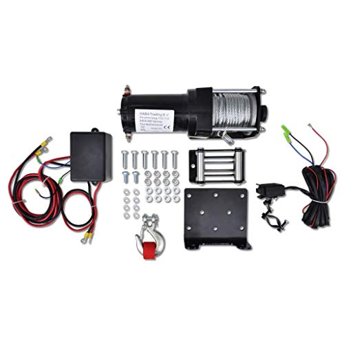 Business & Industrial Material Handling Lifts & Hoists Winches Electric Winch 3000 lb with Plate Roller Fairlead from romelarus
