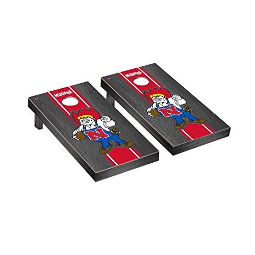 Victory Tailgate College Vault Nebraska Cornhuskers Regulation Cornhole Game Set Onyx Stained Stripe ()