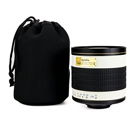 Opteka 500mm f/6.3 Telephoto for Nikon D4s, D3x, Df, D800, D750, D7000, D5300, D5100, D3300, Cameras