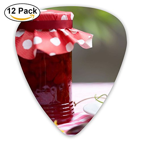 Still Life Jars Strawberries Fashion Celluloid Printing Guitar Picks 12 Pack