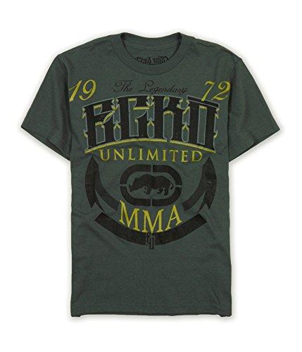 Ecko Unltd. Mens Up Top Graphic T-Shirt Metalgry Xs
