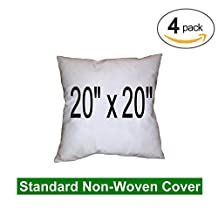 "(4 Pack) Pillow Inserts 20"" x 20"" Square -100% polyester fibre filled"