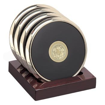 US Naval Academy - Brass Coaster Set by Alumni Gift