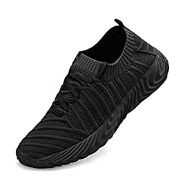 Feetmat Women's Running Shoes Slip Resistant Work Shoes Lightweight Lace Up Sneakers