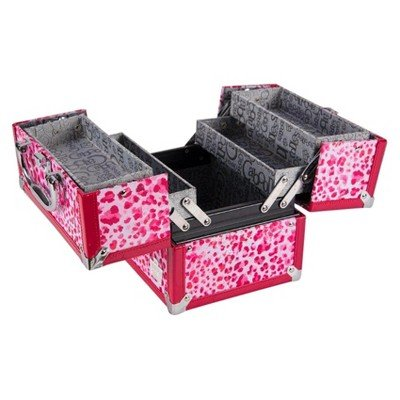 Caboodles Adored 4-Tray Train Case Pink Leopard Pink Leopardo