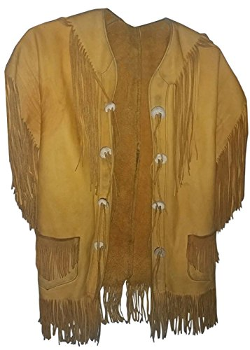 Genius High Coat Vintage amp; Orange East Jacket Fringe Quality Leather Co e West RUqdU1