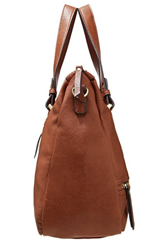 Anna Field Handbag and Shoulder Bag for Women - Cognac: Amazon.co.uk: Shoes  & Bags