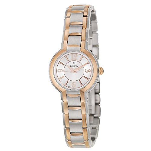 Bulova Women's 98L153XG Quartz Two-Tone Bracelet Watch (Certified (2 Tone Quartz Bracelet)
