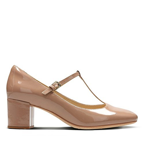 Clarks Orabella Fern Leather Shoes in Nude Patent
