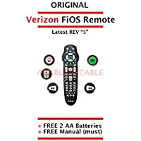 Original Verizon FiOS Remote Control Version 5 + Free Batteries + Manual [New Sealed and Latest 2-Device Verizon FiOS Replacement Remote Version 5]