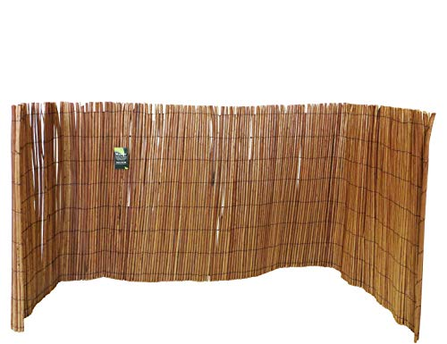 Peeled Willow Fence Screen, 4'h X 8'l, Light Mahogany Color