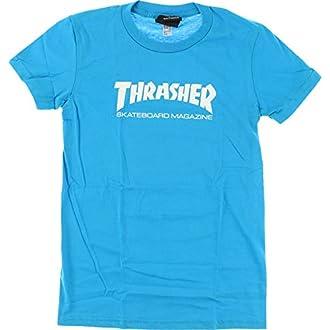 e59319eaa07d #2 Thrasher Girls Thrasher Skate Mag T-Shirt [Large] Teal/White