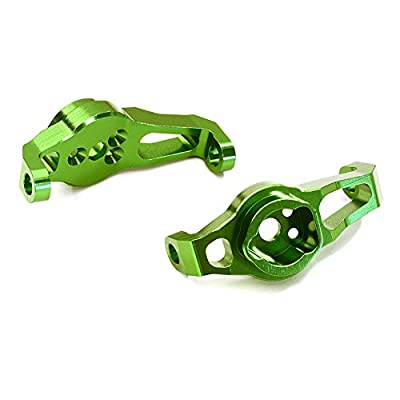Integy RC Model Hop-ups C27973GREEN Billet Machined Alloy Caster Blocks for Traxxas TRX-4 Scale & Trail Crawler
