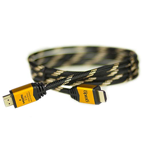 UPTab HDMI 2.0a Cable 6FT - UHD 4K@60Hz with HDR - Braided Cord - Ultra High Speed 18Gbps - Ethernet & Audio Return - Video 4K@60Hz 1080p 3D - Compatible with Xbox X, Playstation Pro, Apple TV 4K (Ps4 Pro Specs Vs Xbox One X)