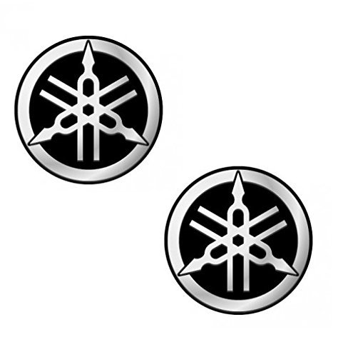 EnfieldCounty New Yamaha FZ 16 Fuel Tank Sticker Decal Logo Black & Silver