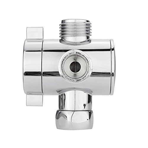 Handheld Shower 1/2' Valves - Adjustable Shower Head Arm Mounted Diverter Valve 1/2'' 3-Way T-adapter