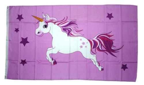 Fahne / Flagge Einhorn rosa NEU 90 x 150 cm